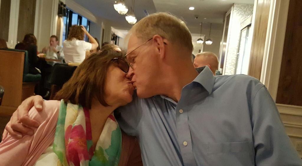 Jama & John kissing 35 anniv