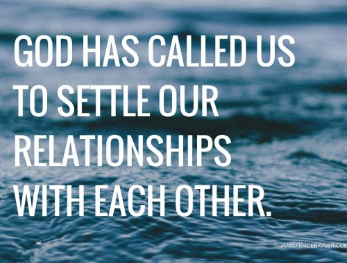 God has called us to settle 2.