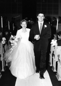 Mr. & Mrs. M. Fred Kehoe (notice she's carrying her veil)